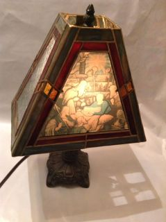Stained Glass Nativity Lamp