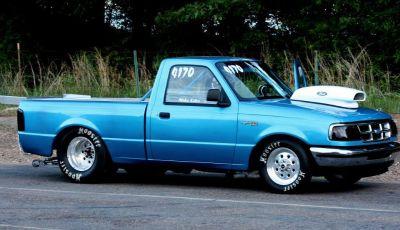 Drag race truck roller