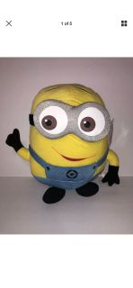 "Despicable Me Minion 15"" Plush Universal Studios Dave & Busters Stuffed Animal"