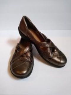 Details about Clarks Bendables Ashland Spin Q Pewter Metallic Colored Women's Size 7M Leather