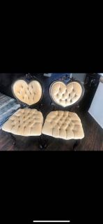 Antique heart chairs