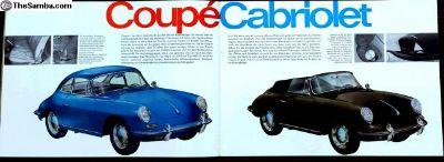 Porsche 356C Brochure Original Deutsch Text 1964