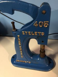 Stimpson 405 Eyelets Fasteners and Grommets Cast Iron Press