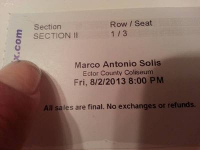 Tickets Mark Antonio Solis