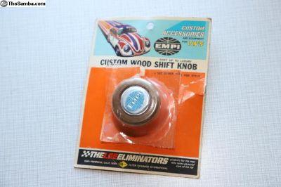 NOS boxed Empi custom wood shift knob