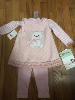 Size 12 Month - New with Tags Bonnie Jean Dress with Leggings