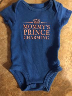 Mommy s Prince Charming Blue Onesie. Size Newborn. Nice Condition