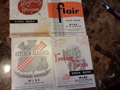 4 vintage cook books