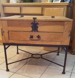 Rustic/Wrought Iron Side Table