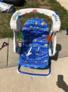 fisher price battery operated travel aquarium baby swing