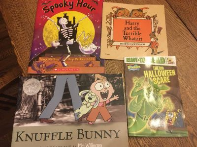 New and used Halloween story books