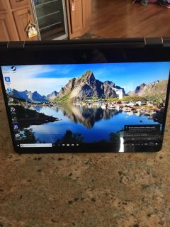 Hp specter 15.6 inch 4 k touchscreen. Laptop Samsung 512 ssd. 16gb ram. 940 max graphics carrying case and 2 year warranty