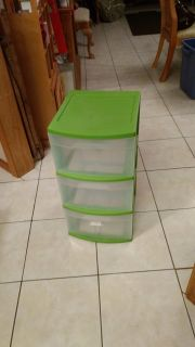 Green - 3 Drawer - Sterlite Container