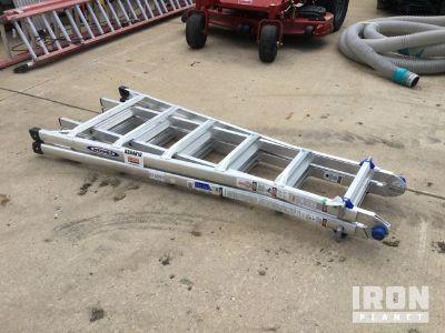Lot of (1) Werner MT26 Multi-Position Ladder & (2) Louisville Walk Boards