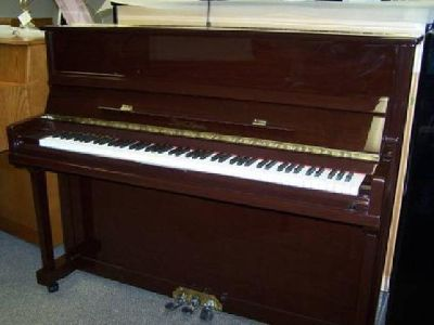 "$3,950 New 47"" brown mahogany upright piano"