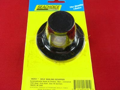 Sell SCUPPER BOAT DRAIN SELF BAILING CHECK BALL VALVE BLACK SEACHOICE 18291 motorcycle in Merritt Island, Florida, United States, for US $13.95