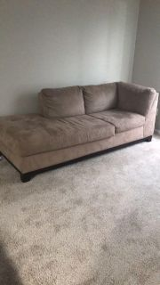 Brown couch.
