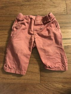 Light red pants, 0-3 months