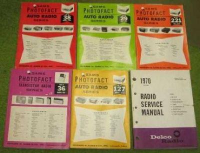 9 Service Manuals 1940s (kennebunk)