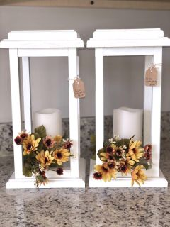 MUST SELL READ!! Wooden Lanterns