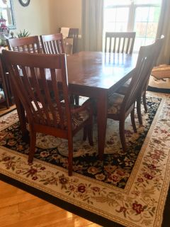 Cherry dining room set - make your own memories! And a reasonable offer!