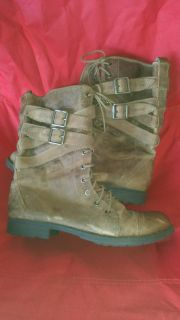 Distressed brown boots