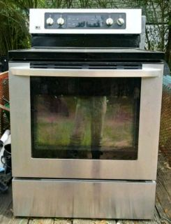 White Glass Top electric Stove