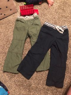 Size 4T boys lined pants