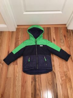 Carter s Winter Jacket. Fleece Lined. Green & Blue. Size 4t. Excellent Condition, Looks New.