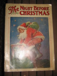"""Antique 1920 children book. """" The Night Before Christmas."""""""