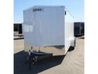 2019 Haulmark 7x16TA Enclosed Cargo Trailer - White with Barn Do