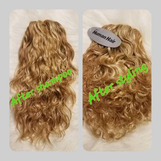 "8""Integration Topper size 5"" x6"" Color #22/#27 Ligth Blonde/w Honey Blonde"