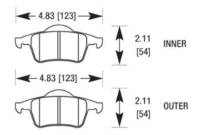 Purchase HAWK HB652Z.634 - 01-03 Volvo S60 Rear Brake Pads Ceramic motorcycle in Chino, California, US, for US $72.07