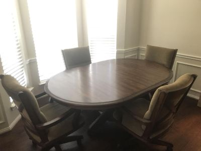 Miller Table And 4 Chairs Antique Oak from Havertys