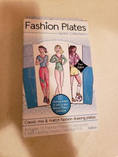 New Fashion Plates-Sports Collection