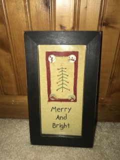 Country Xmas plaque. Hanger on back. 9.5 x 5.5