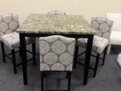 New 5pc Counter Height Pub Table Dining Set