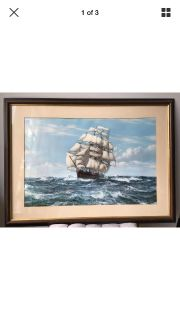 Racing Home The Cutty Sark, Beautifully Framed Art Print By Montague Dawson