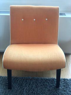 One Kings Lane Orange Fabric Chairs - per set of 2