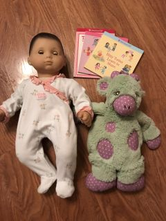 American Girl bitty baby with extra