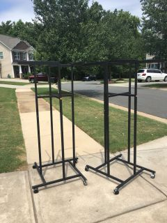 Clothing racks. 30$ for both. 5632 Mcdowell run drive
