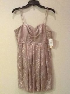 Party dress taupe metallic size 8 with tags