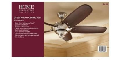 BRAND NEW/NEVER USED: Altura 68 in. Indoor Brushed Nickel Ceiling Fan