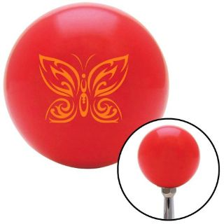 Sell Orange Fancy Abstract Butterfly Red Shift Knob with M16 x 1.5 Insert street rod motorcycle in Portland, Oregon, United States, for US $29.97