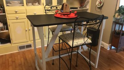 Bar Height Table and Two Stools