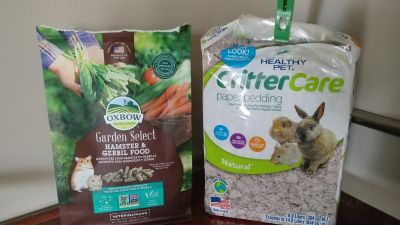 FREE hamster / gerbil food and paper bedding