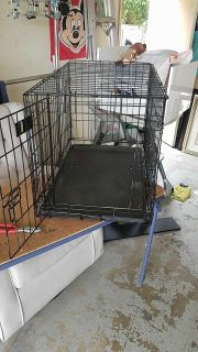 Collapsible pet training crate