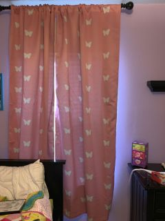 Girls butterfly blackout curtains.(Land of Nod)