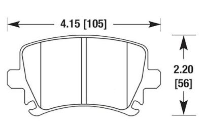 Purchase HAWK HB544Z.628 - 06-08 Audi A3 Rear Brake Pads Ceramic motorcycle in Chino, California, US, for US $80.21