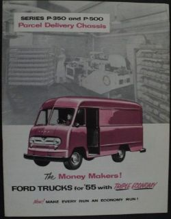 Buy 1955 Ford Truck Series P 350 & P 500 Parcel Delivery Chassis Brochure ORIGINAL motorcycle in Holts Summit, Missouri, United States, for US $16.57